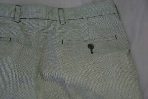 Austin Reed London Pleated Dress Pants Slacks Gray Houndstooth 34x31 Guc Ebay