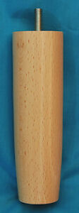 4-POLISHED-WOODEN-BED-LEGS-150mm-6-034-Ref-E419-N-Replacement-Furniture-Legs