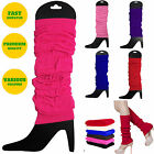 Winter Warm Knit Crochet High Knee Leg Warmers Leggings Boot Sock Slouch Costume
