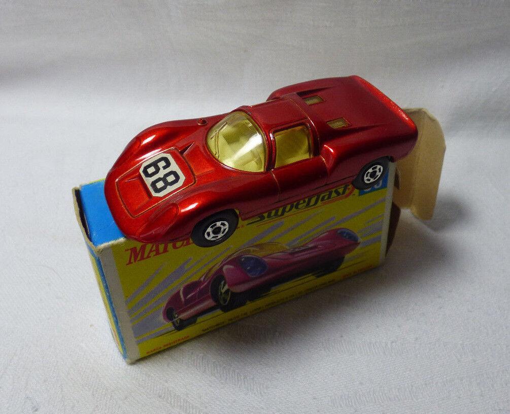 Matchlåda Superfort - MB 68 Porsche 910 - tillverkad i England - OVP