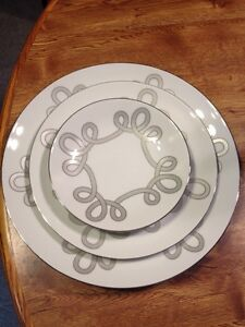 Haviland Brandebourg SILVER Dinner Salad Bread Plate Limoges Made in France