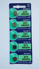 5 SONY 371 370 SR920SW Silver Oxide Watch Battery Made in Japan EXP.DATE 11-2019