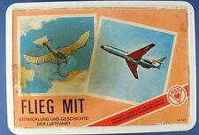 Quartett - Flieg mit - ASS Nr. 623 - 1965 - in Großbox - Flugzeug Kartenspiel 2