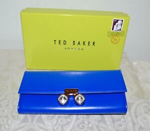 ab040c69e50c NWT  185 TED BAKER Eleni Crystal Bobble Lock Matinee Wallet Cobalt ...