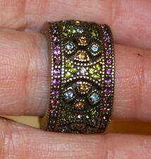 Heidi Daus Mosaic Masterpiece Multi Color Crystal Ring Size 7
