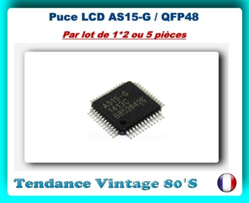 *** lot of 1*2 or 5 as15-g circuits compelling cms-qfp48 lcd chip ***