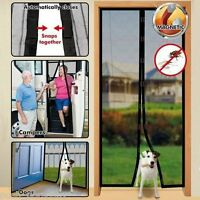 Magnetic Black Door Mesh Bug Fly Insect Mosquito Screen Guard Black Curtain Net
