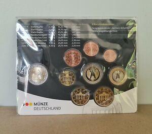 Coffret BU Euros Allemagne 2021 - 8 Pièces 1 centimes à 2 Euros