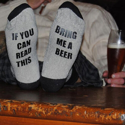 Xmas Gift Women Men If You Can Read This Bring Me a Beer Socks Unisex Wine Socks