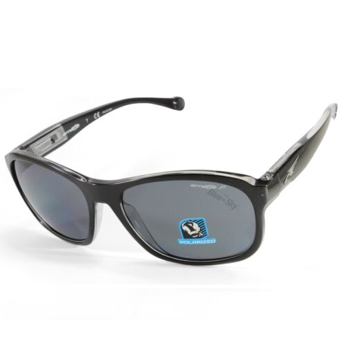 Arnette AN4209-02 2159//81 Uncorked Polished Black//Grey Polarised Sunglasses