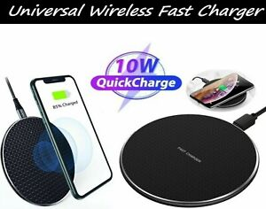 Qi Wireless Fast Charger Charging Pad Dock for Samsung phone s6 s10 s20 s7 s8 s6