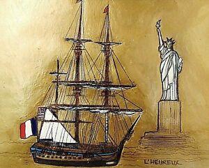 L-039-Hermione-Lafayette-039-s-Ship-Amer-Revolution-Fine-Art-Print-Marianne-L-039-Heureux