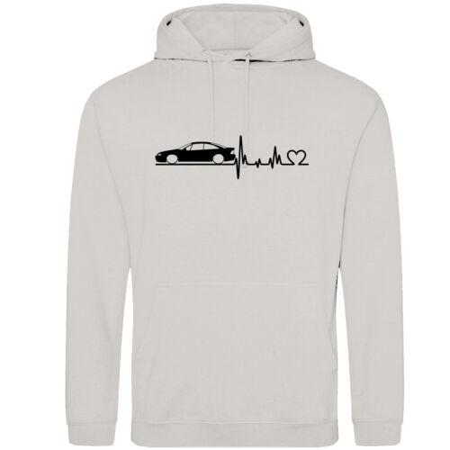 Herzschlag Opel Calibra Hoodie Kapuzenpullover Motiv A36