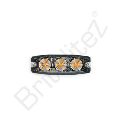 AXIXTECH UR03 RECESS-FIT 3LED FLASHING RECOVERY FEND-OFF//GRILLE WHITE LEDS