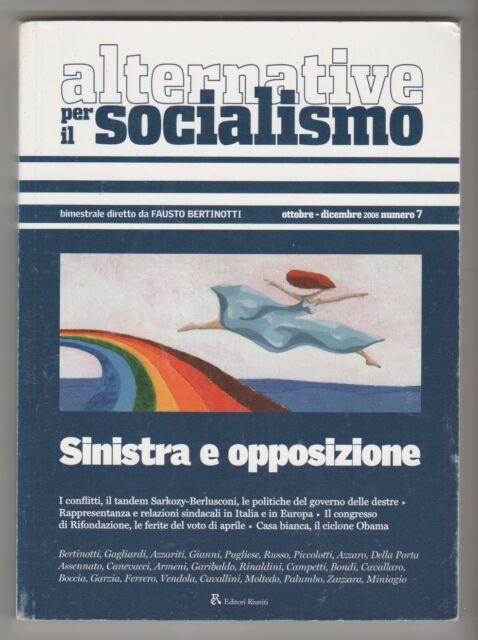 Alternative per il socialismo 7 2008: sinistra e opposizione