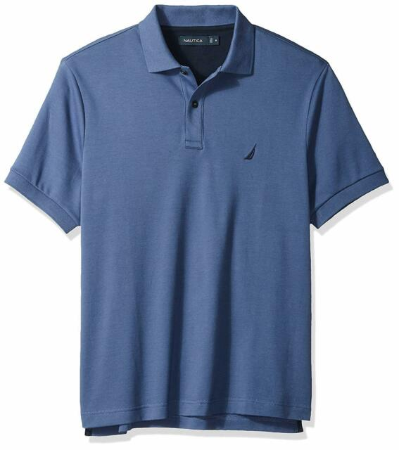 Nautica K61700 Mens Standard Classic Fit Short Sleeve Solid Soft Cotton Polo