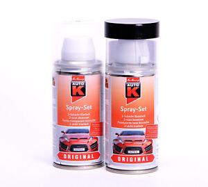 Autolack für VW / Audi LX7Z Delphingrau met. Auto-K Spray Set Lackspray K20943S