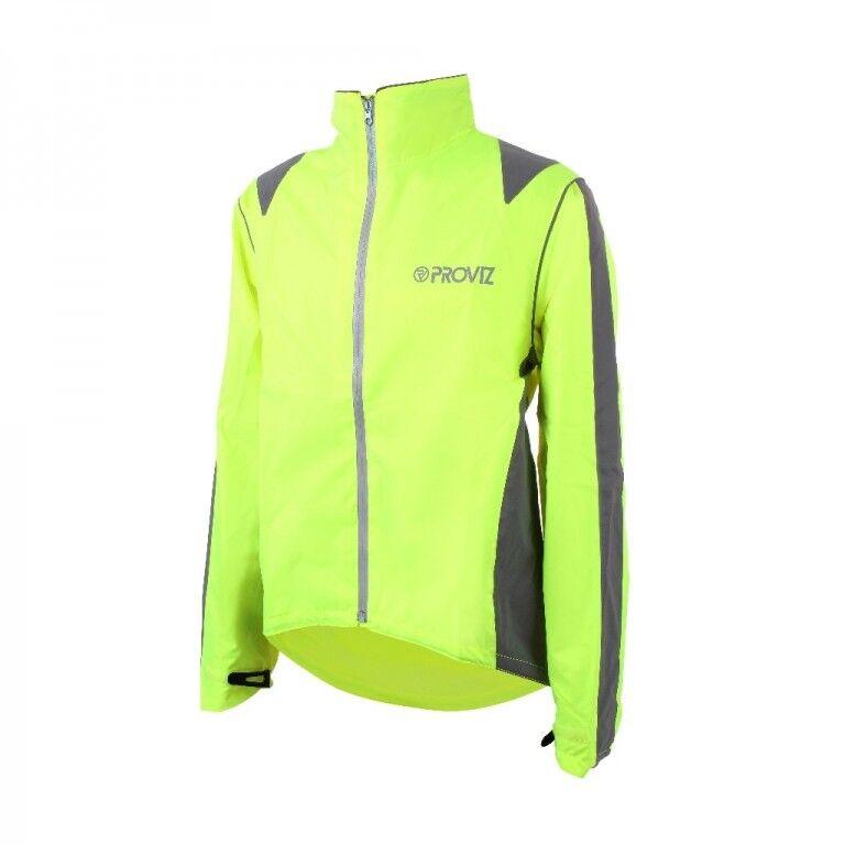 Proviz Nightrider Jacket amarillo tamaño L proyectar reflejos señores chaqueta vellón W