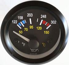 """Oil Temperature Gauge 2"""" Analog Temp 122-302F, 50-150C"""