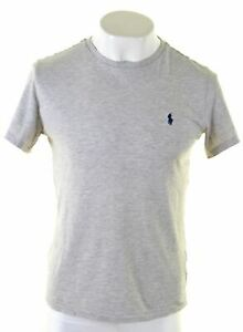 Polo-Ralph-Lauren-Para-hombres-Camiseta-Top-Algodon-Custom-Fit-CG16-Gris-Medio