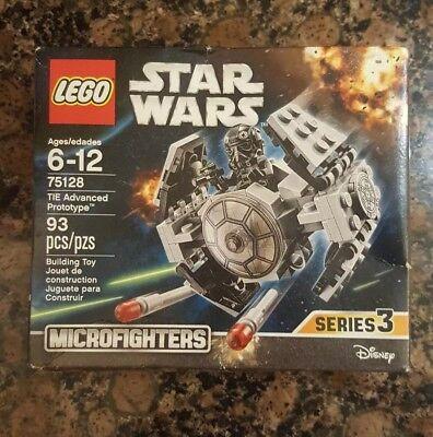 Lego Star Wars 75128 Tie Advanced Prototype 93 Pcs Legos Microfighters Series 3