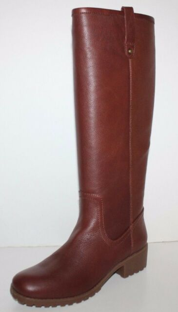 GH Bass NIB Women Nellie Brown Leather Riding Boots w/ Treaded Sole