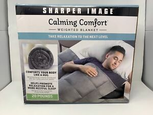 Sharper Image Calming Comfort Weighted Blanket 20 Pounds Grey Ebay