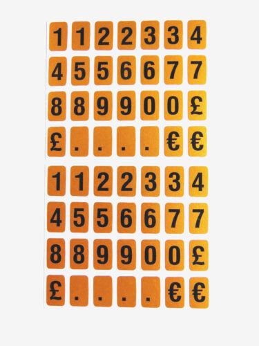 Schwarz auf Gold Rechtecke 10mm Klebend Buchstaben Zahlen Aufkleber Etikett