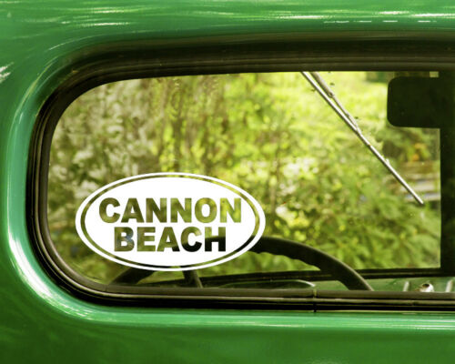 Cannon Beach Decal Sticker Oregon 2 Oval for Travel Mug Car Laptop