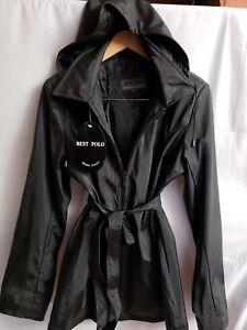 Bedste Størrelse Mode Jakke Berømte Hodded Læder Italien Ægte Sort Polo Xl Den rTqwar