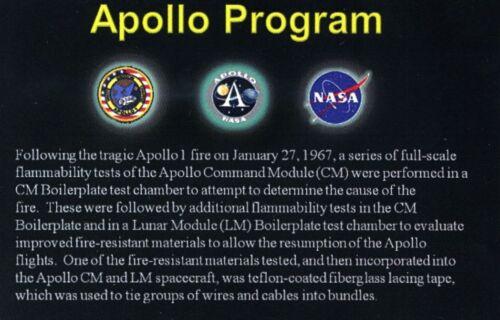 Apollo 1 Teflon-Coated Lacing Tape on Gorgeous Certificate NASA Not Flown