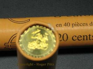 Monaco-20-Cent-Currency-Coin-2002-Bfr-From-Original-Roll