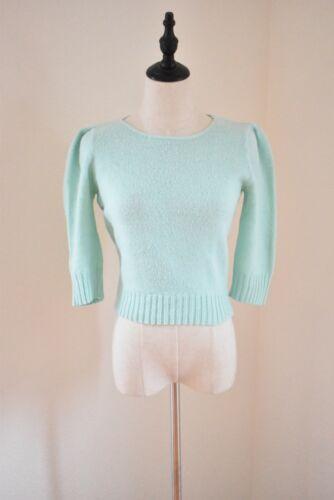 Vintage 1950s Seafoam Green Knit Sweater