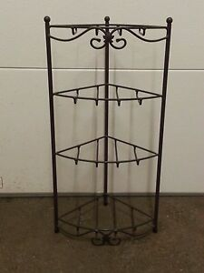 Image Is Loading Longaberger Wrought Iron 4 Corner Stand Foundry