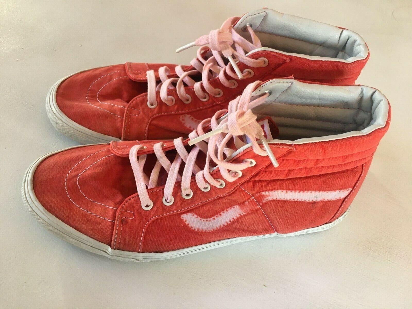 Men's Vans off The Wall Worlds Skateboard Tie Dye Hi Top Lace Up Sneakers 11.5