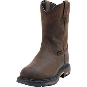 Ariat Mens Workhog U Turn Waterproof Plain Toe Work Western Boots 10001198