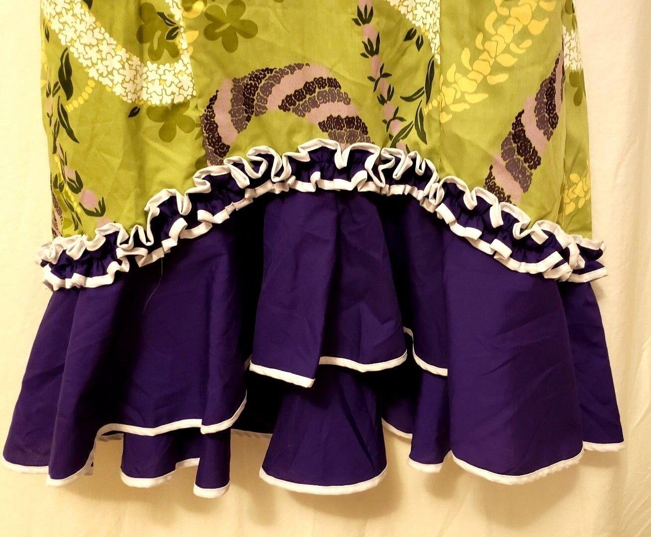 Amy Lee damen Hawaiian Wiggle Dress Aloha Hawaii S 6-8 Spaghetti Straps Train