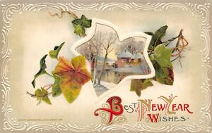 New-Year-Ivy-Vine-Vignette-Couple-by-Stream-Cottage-White-Emboss-Tan-Back-Winsch