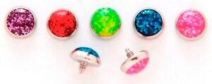 1pc-14G-5mm-Glitter-Dome-316L-Surgical-Steel-Threaded-Dermal-Anchor-Top
