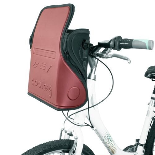 BV Insulated Handlebar Bag Cooler Pouch Commuter Touring Storage BV-HB3-RD-PAIR