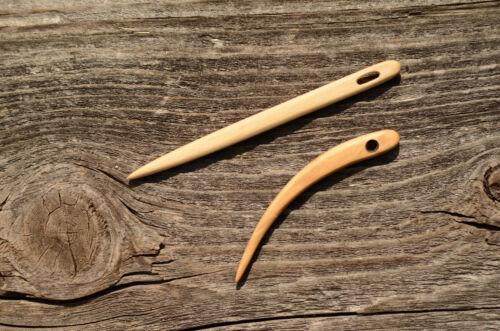 Nalbinding needles Needles for weaving Viking Medieval reenactment Set of 2