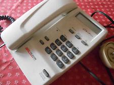 Telefono Tavolo BIANCO con Tastiera numerica TELECOM Usato Vintage Collezione