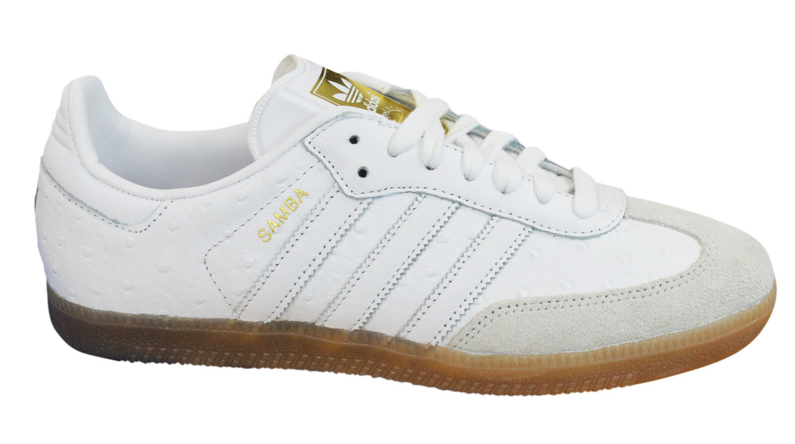 Adidas Originals Samba femmes  Trainers Lace Up  Chaussures blanc  Leather BZ0619 M17