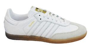 Adidas Originals Samba Womens Trainers Lace Up Shoes White Leather ... d6e2f32ba1a