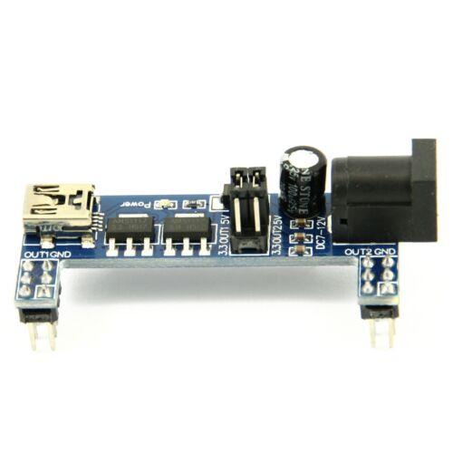 MB102 Breadboard Stromversorgung Modul 3.3V 5V Solderless für zB Arduino Neu
