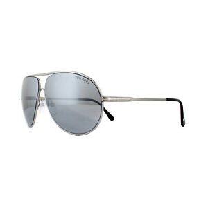 180cb33da9e0b Tom Ford Sunglasses Cliff 0450 14C Shiny Light Ruthenium Smoke Grey ...