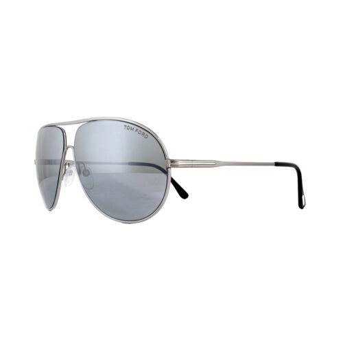 Tom Ford Sunglasses Cliff 0450 14C Shiny Light Ruthenium Smoke Grey