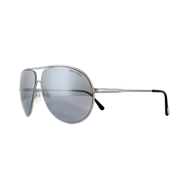 e873a37897 Tom Ford Sunglasses Cliff 0450 14C Shiny Light Ruthenium Smoke Grey