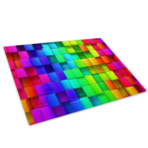 Colourful Cool Funky Glass Chopping Board Kitchen Worktop Saver Protector