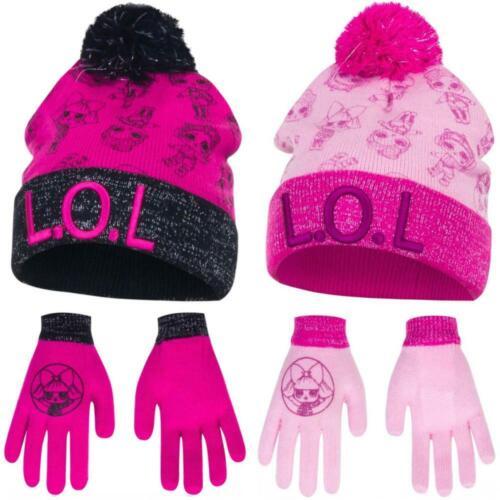 Lol Casquette gants pour filles l.o.l surprise avec paillettes automne hiver Set